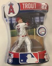 MIKE TROUT MLB Imports Dragon Baseball Figure White Jersey Anaheim Angels