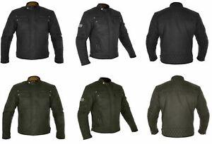 Oxford Hardy Wax Cotton Motorcycle Heritage Style Motorbike Sports Jacket