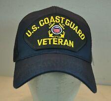 U.S. Coast Guard Veteran Snapback Hat Blue Ball Cap