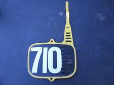 SUZUKI RM80 RM60 OEM FRONT NUMBER PLATE 1982 1983 1984 1985 AHRMA