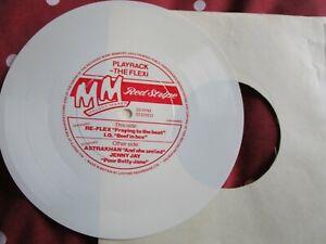 "Re-Flex ASTRAKHAN Jenny Jay Melody Maker Red Stripe White Vinyl 7"" Flexi-Single"