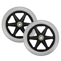 2Pcs Rollator Walker Replacement Part 6'' Front + Rear Wheel for Drive Medical