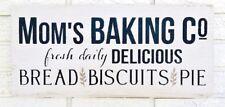 Moms Baking Co, Mom Baking Company, Mom Baker Sign, Mom Baking Wood Sign, Mom