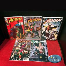 ROBIN #1-5 1ST. COMPLETE MINI SERIES SET 1ST PRINTS DC COMICS 1991 VF/NM