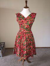 Bernie Dexter  size small poppy print dress good condition