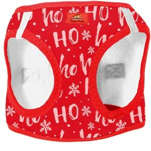 Doggie Design Dog Harness Christmas Holiday HO HO HO Red Step Choke Free Costume