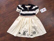 NWT Misha Lulu girls 4 circus dress Hello Kitty black white party boutique cat