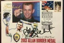 CRICKET LEGEND ADAM GILCHRIST SIGNED FDC