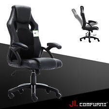 Office Desk Leather Swivel Home Chair Faux Excutive Sport Backrest PC Computer