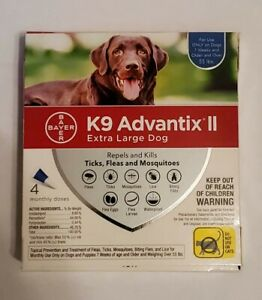 K9 Advantix II Flea Medicine Extra Large Dog 4 Month Supply.
