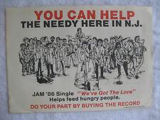 """SPRINGSTEEN on 1986 POSTER - w/ N.J. ARTISTS - """"JAM '86""""- CLEMONS SOUTHSIDE etc."""