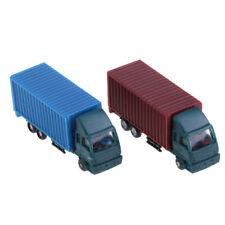 Vehículo de construcción de camión contenedor de 2 Piezas de Coches Camión Modelo Figura Escala N