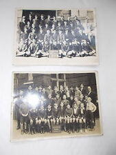 "2 Old Real Photographs Of Gillepie Road Boys School measure 6 1/2"" x 4 3.4"" App"