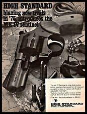 1975 High Standard Mk I Sentinel Revolver Print Ad Old Gun Advertising