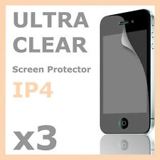 3 x Screen Protector LCD Guard Cover & Cleaning Cloth for Apple iPhone 4S 4G 4
