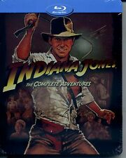 INDIANA JONES  The complete adventures (2011) s.e. STEEL BOOK BLU RAY NUOVO