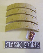 MG TC 1945-1951 NEW SET OF 4 REAR BRAKE LININGS WITH RIVETS (E112AF)