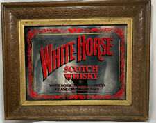 Vintage White Horse Whisky Scotch Whisky Mirror Bar Liquor Advertising 12x15