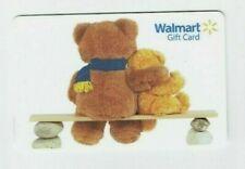 Walmart Gift Card - Teddy Bears Hugging on a Bench - Older - No Value -I Combine