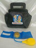 Vintage Fisher Price Doctor Nurse Black Empty Bag for Medical Toy Kit. Bag Only