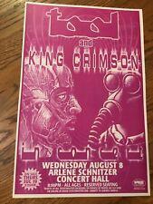 "New listing Tool King Crimson 2001 Portland Oregon Cardstock Concert Poster 12""x18"""