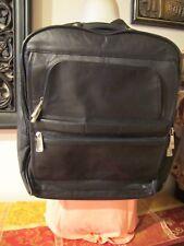 LEEDS Men's Black Pinnacle Leather Laptop Computer Backpack