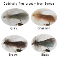 Riverruns Realistic Flies Caddis Fly Dry Colors Trout UV Super Sturdy flies