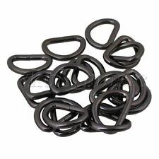 20pcs Metal D Rings Buckle Loop Ring for Webbing Handbag Clothing