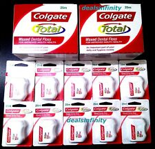 12 x New Colgate Total Dental Floss Waxed Dental Floss 25 m Pack - Free Shipping