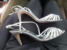 Alan Pinkus Silver Heels Shoes 8.5 Satin Bridal