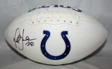 Marshall Faulk Autographed Indianapolis Colts Logo Football- JSA Witness Auth