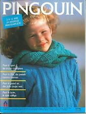 Catalogue tricot PINGOUIN n° 96/ENFANTS 2 à 12 ans/Années 80/39 modèles