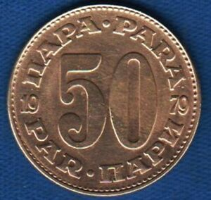 """50 Para 1979, Yugoslavia Brass, SCARCE TYPE """" with narrow 0 """" - RARRE coin !"""