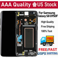For Samsung Galaxy S8 G950F LCD Touch Screen Digitizer Replacement+Frame Black