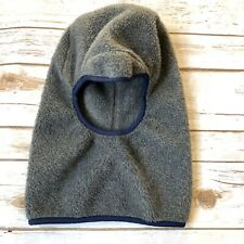 Vintage Patagonia Balaclava Ski Mask Gray Fleece Made In USA Winter Hat Pull On
