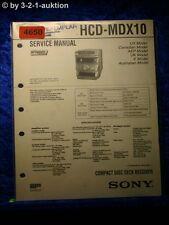 Sony Service Manual HCD mdx10 CD RECEIVER (#4650)