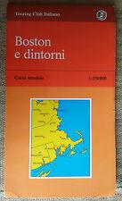 BOSTON e dintorni carta stradale Touring Club Italiano 1:350000