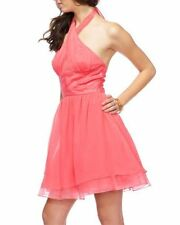 Bebe Crisscross Halter dress