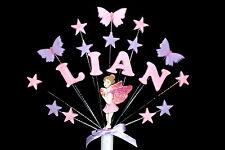 Fairy, butterfly Personalised Birthday, Christening Cake Topper, handmade