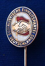 German Socialist Party SED Sozialistische Einheitspartei Deutschlands,pin badge