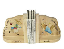 Personalised Peter Rabbit Beatrix Potter Wooden Bookends Baby Gift Book Ends
