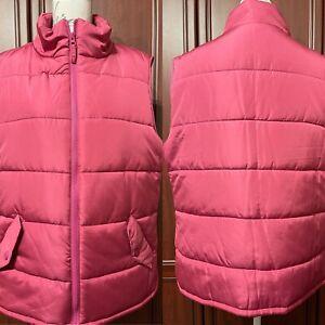 "* Ladies Pink Quilted Gilet Body Warmer UK 18 - 44""VGC TRU *"