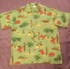 Go Barefoot Surf Board Vintage Cars Stunning Hawaiian-made shirt 2XL XXL