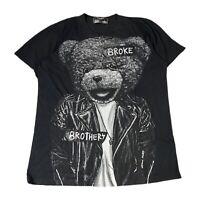 Domrebel Montreal Broke Brothers Teddy Bear Black Tee T-Shirt Mens L Large
