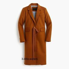 NWT J. Crew Collection Olivia Topcoat Coat Grosgrain Ribbon 12 Wool Cashmere NEW
