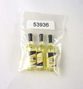 Dollhouse Miniature 3 Bottles of White Wine, 53936