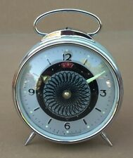 "Réveil animé SHANGHAI CHINA ""SPIRALE"" ancien vintage MARCHE old alarm clock"