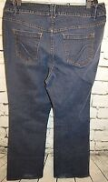 LANE BRYANT Womens Plus Size 18 Denim Blue Jeans Slim Boot Cut Pants