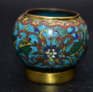 Superb Antique 18thC Chinese Cloisonne Water Pot - From A Scholar's Table