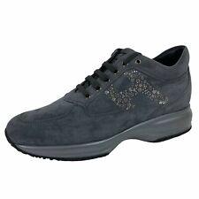 C12 sneakers donna HOGAN INTERACTIVE GREY suede shoes women